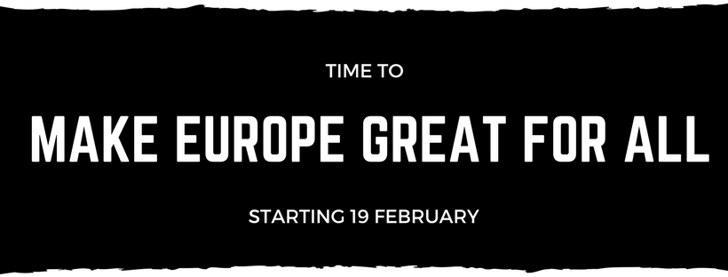 Time to Make Europe Great for All