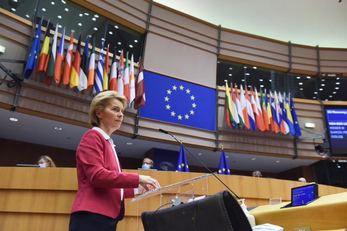 EU recovery budget presented by Ursula Von der Leyen